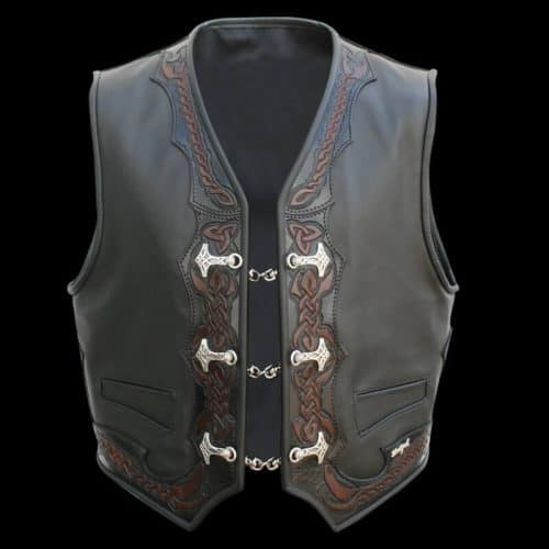 lederweste thors leather