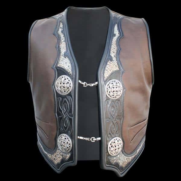 lederweste viking skin